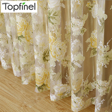2015 Hot rose modern tulle for windows shade sheer curtains fabric for kitchen blinds living room the bedroom window treatments(China (Mainland))