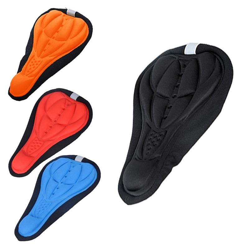 Гаджет  Cycling Bicycle Bike Silicone Saddle Seat Cover Silica Gel Cushion Soft Pad E1Xc None Спорт и развлечения