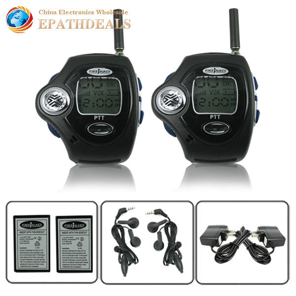1pair 2sets! Wrist Watch Walkie Talkie 2 Two Way Wrist Watch Radio With VOX Operation Speaker ( USA 22CH / Europe 8CH )(China (Mainland))