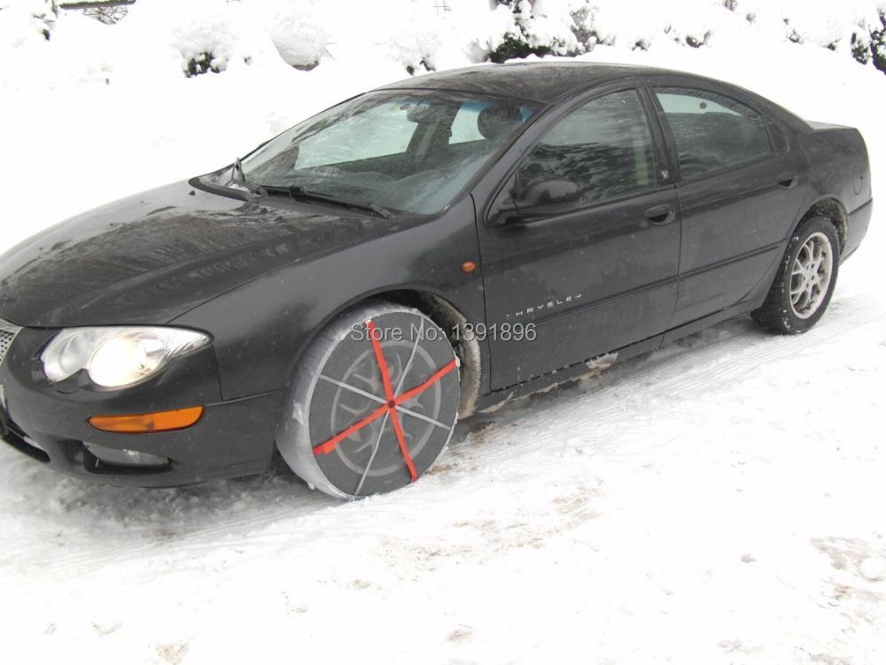 Ткань снег цепь autosock снег носки шина для автомобили в зима международный уполномоченным TUV сертификации