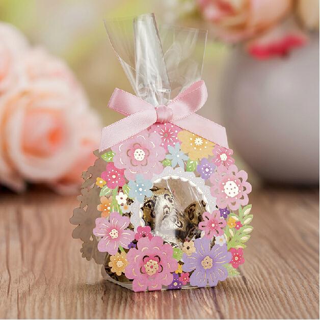 Wedding Gift Box For Guests : Laser Cut Wedding Favor Boxes Wedding Gifts For Guest Flower Candy Box ...