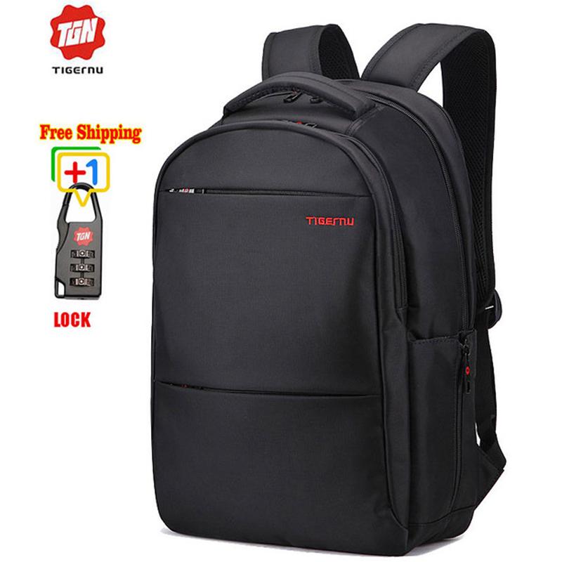 Tigernu Unique High Quality Waterproof Nylon 17 Inch Laptop Backpack Men Women Computer Notebook Bag 17.3 Inch 15.6 Laptop Bag(China (Mainland))
