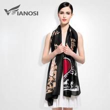 [VIANOSI] 2016 100% Silk Scarf Women Fashion Designer Brand Scarves Casual Shawls Sjaal Print Foulards Femme Luxury VA008(China (Mainland))