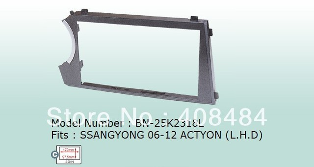 Fascia 2DIN Panel Special Car Audio Refitting Panel Frame Dash Kit For SSANGYONG ACTYON Left Hand Drive Retail/Pc Free Shipping