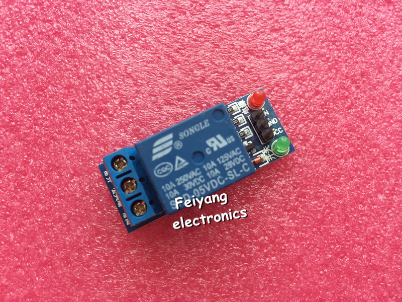 1pcs lot 1 Channel 5V Relay Module Low level for SCM Household Appliance Control FREE SHIPPING
