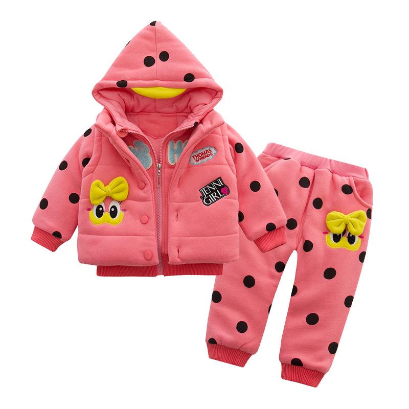 2016 new winter coat may Ai Gaga little cotton three-piece girls Explosion models girls winter coat suit(China (Mainland))