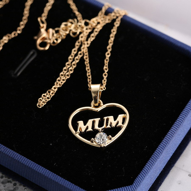 Mom Mum Gold Crystal Necklace /& Pendant NEW* Birthday Christmas Mothers Day Gift