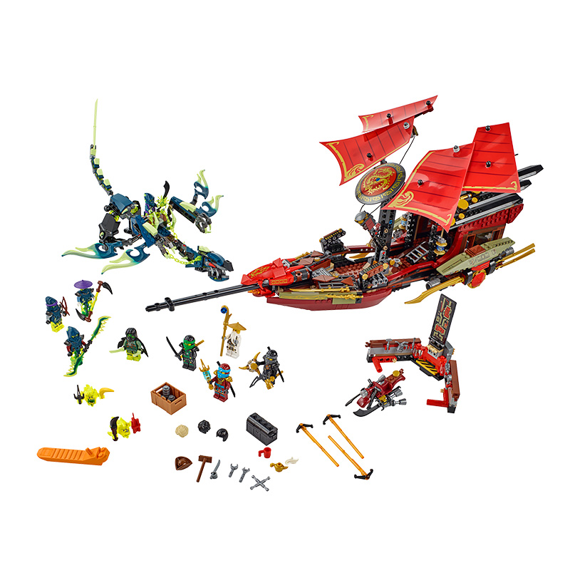 Bela 10402 Ninjagoed Building Blocks Final Fight Destiny's Bounty Kids Bricks Toys Compatible legoe 70738