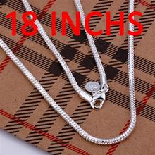 Buy LKNSPCC010 // wholesale fashion 2MM16.18 20.22.24. inches snake chain Necklace, Factory Price 925 jewelry hot sale silver plate for $6.67 in AliExpress store