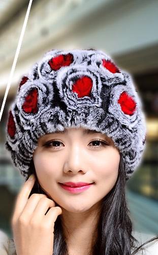 ( Hat &Scarf Set Sell) Boys&Girls Striped Winter Trendy Boys Rex Rabbit Fur Warm Fashion Soft/Elastic Hat Scarf Set 6 Color ET1.