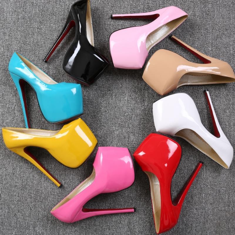 Aliexpress.com : Buy Hot Sell Women Pumps Sexy High Heels Red ...