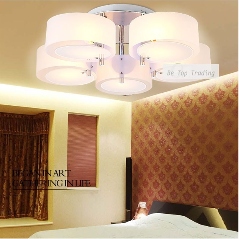 2015 Modern Fashion Acrylic Chandelier Simple LED Ceiling Chandelier With E27 Bulb Base For Living Room / Porch