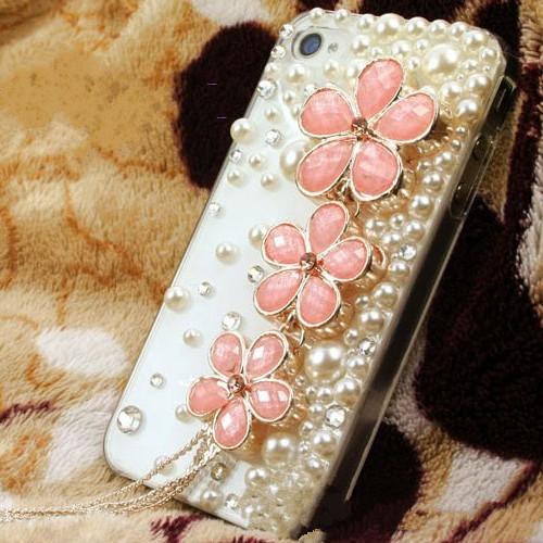 Three-color diamond tassel flowers For LG Optimus G E975 E973 LS970 F180 E970 phone case(China (Mainland))