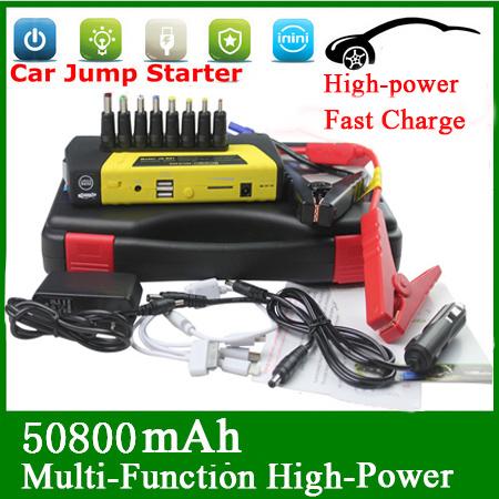 High Power Car Jump Starter 50800mah Multi-Function Car Charger Power Bank Emergency Start 12V Car Starter Battery Charger(China (Mainland))