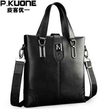 Pi Ke slung business the first layer of leather mens shoulder bag 2014 new rush man with the bag(China (Mainland))