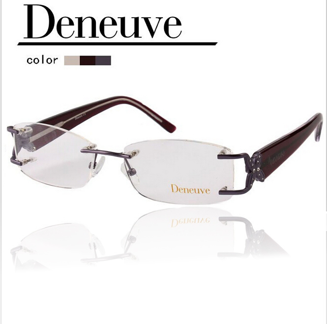 Rimless Eyeglass Frames 2015 : 2015-fashion-design-lady-style-optical-rimless-frames ...