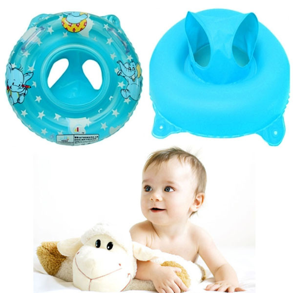 High quality PVC Soft Environmental Health Inflatable Baby Child Swimming Seat Double Handle Thicken Float Ring Raft Chair Pool(China (Mainland))