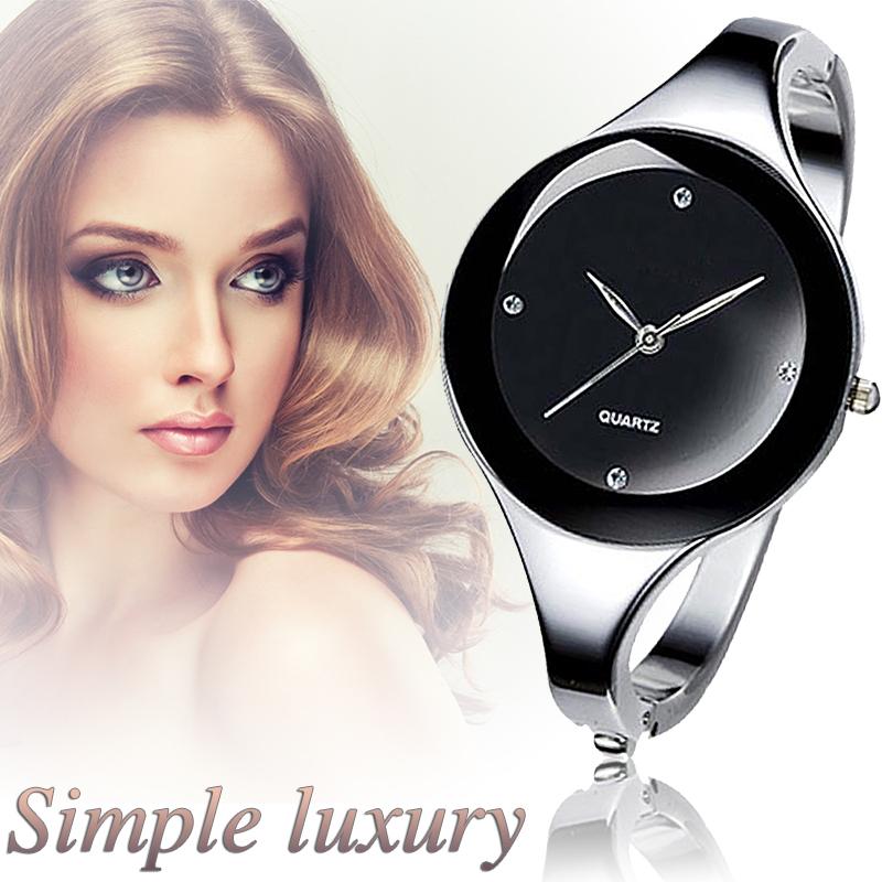 2016 Top Brand Women Bracelet Watches Crystal Dress Ladies fashion Stailess Steel Round Dial unique designer quartz watch(China (Mainland))