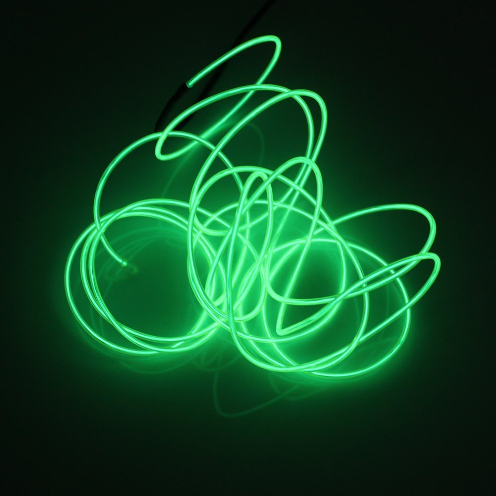 New Light Green 3M Neon EL Wire LED Light Strip Cable for Halloween /Birthday /Christmas Party(China (Mainland))