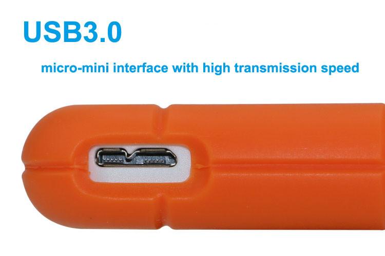 External Military 2.5 External Hard Drive 500G with Encrypted Aluminum Plastic hdd sata enclosure usb 3.0 high speed 500G hard