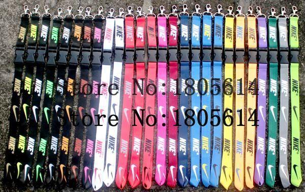 Customized Women Clothing Brand Lanyard Key Chains Mobile Phone Charms Detachable Neck Strap Lanyards 26 Colors Mix 500pcs(China (Mainland))