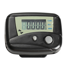 1pcs Black Digital LCD Run Step Run Pedometer Walking Calorie Counter Distance Clip-on  H1E1(China (Mainland))