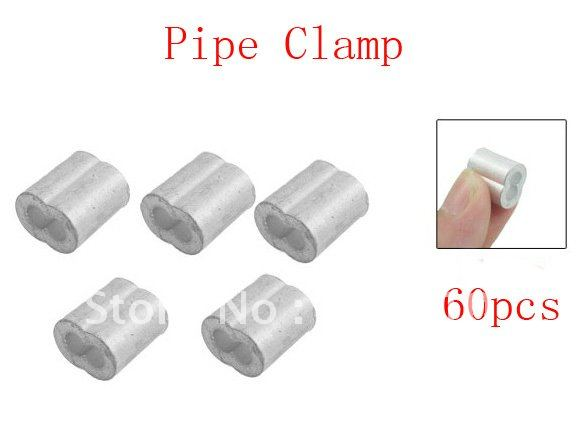 Best Promotion Wholesale Price Double Port Aluminum Pipe Clamp Lean Tube Connector 60pcs/lot(China (Mainland))