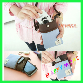 Free Shipping 20pcs/lot Oxford multi-purpose portable digital Camera case Cell Phone pouch Fashion bag