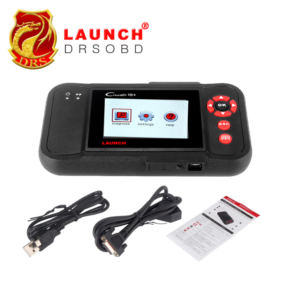 Newest Launch Creader VII+ Auto Code Reader Launch X431 Creader VII Plus Engine ABS SRS Braking System Auto Scanner Creader 7+(China (Mainland))