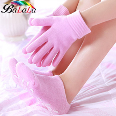 SPA Gel reusable gloves & Sock Moisturizing whitening 2pairs/lot ( 1pair glove+1pair sock) beauty hand foot care free shipping