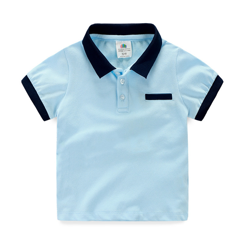 2016summer new arrival boys tshirt short sleeve boys clothes turn down collar toddler boy shirts boys tops kids clothes <br><br>Aliexpress