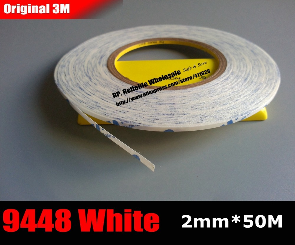 (2mm * 50M) Double Sided Adhesive Tape Sticky for iphone Phone LCD /Touch Pannel /Dispaly /Screen Housing /Case Repair White