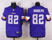 Men's free shiping A+++ quality Minnesota Vikings #82 Kyle Rudolph Elite(China (Mainland))