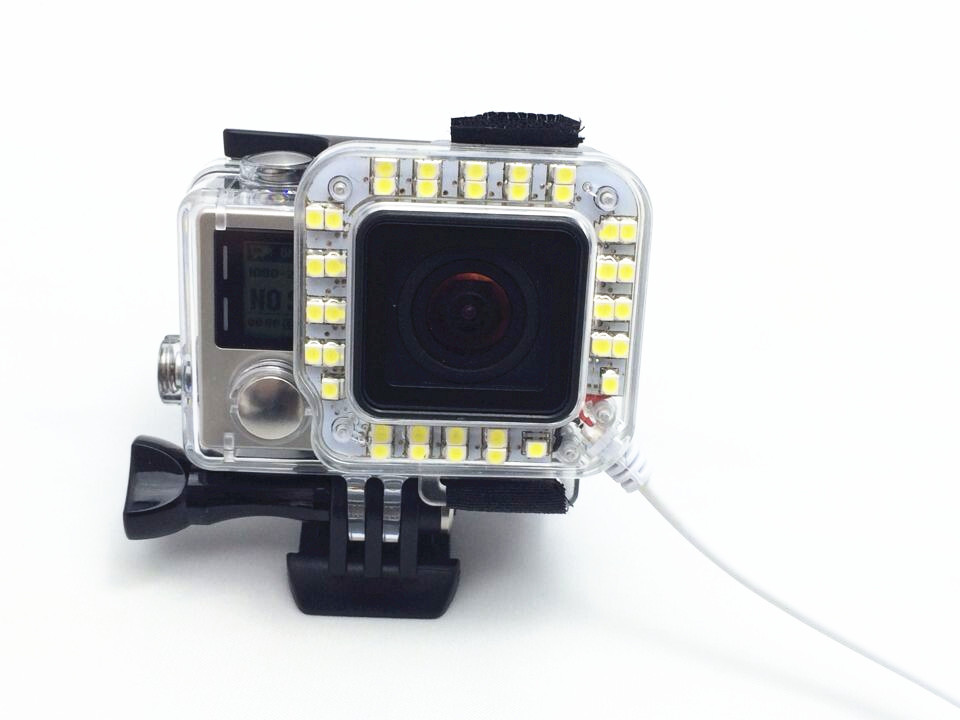 product Go pro Accessories LED Fill Light Mount Gopro Hero 4 3+ Housing Lens FOR Go Pro Hero3+ 4 Camera Mounting