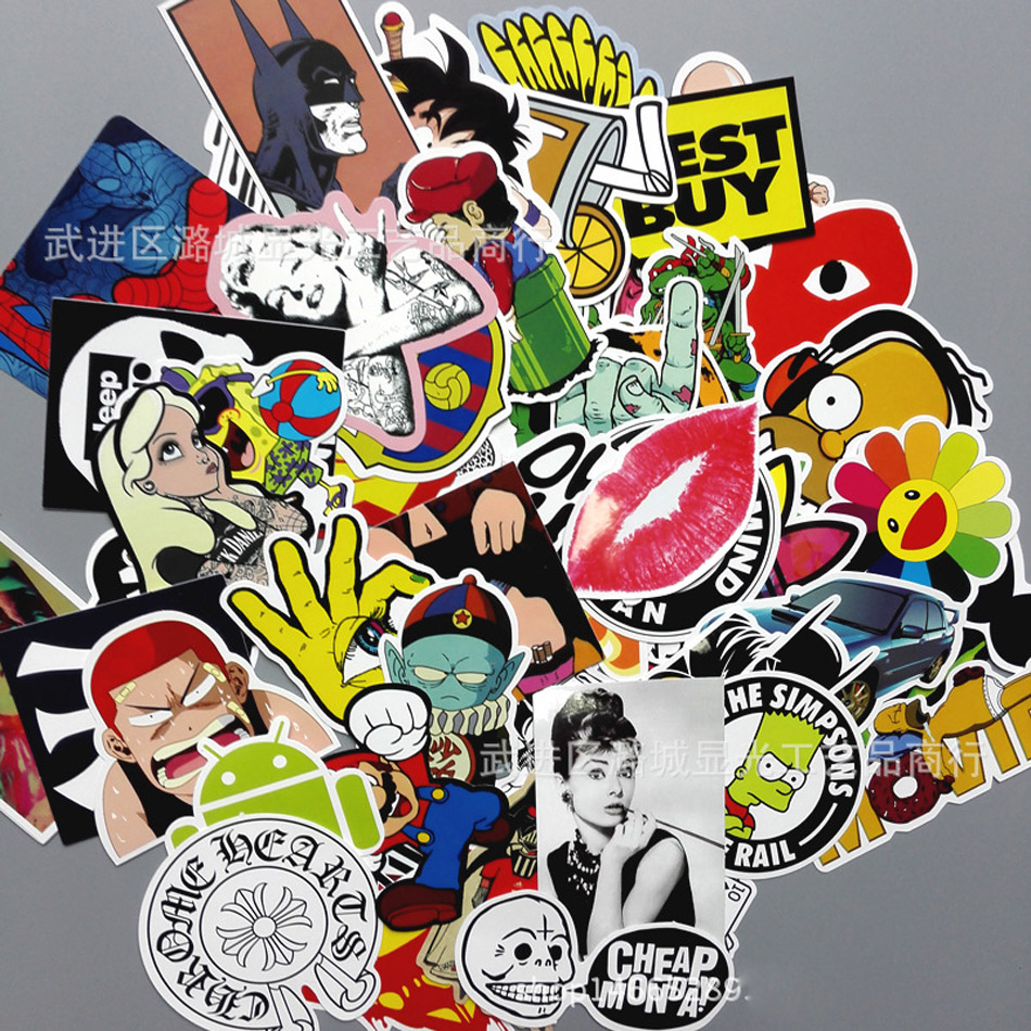Cool sticker design for bike - Cool Sticker Paster 50 200pc Pack Jdm Vw Jap Euro Car Luggage Bike Vinyl
