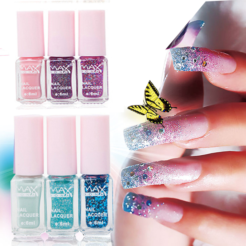 3 pcs/Set DIY Colorful Change Gel Nail art Polish Soak Off UV Nail Glitter Varnish Nail Polish Set vernis a ongle(China (Mainland))