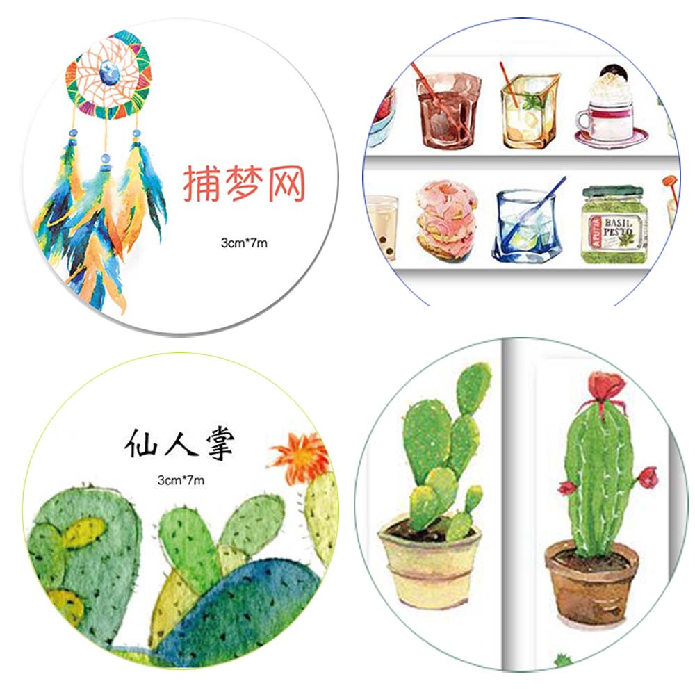NEW!!! 18 Designs To Choose Plants 2.5-4CMX7M Washi Paper Tape Masking Tape Stickers Decorative Sticker Adhensive Tape XQT015(China (Mainland))