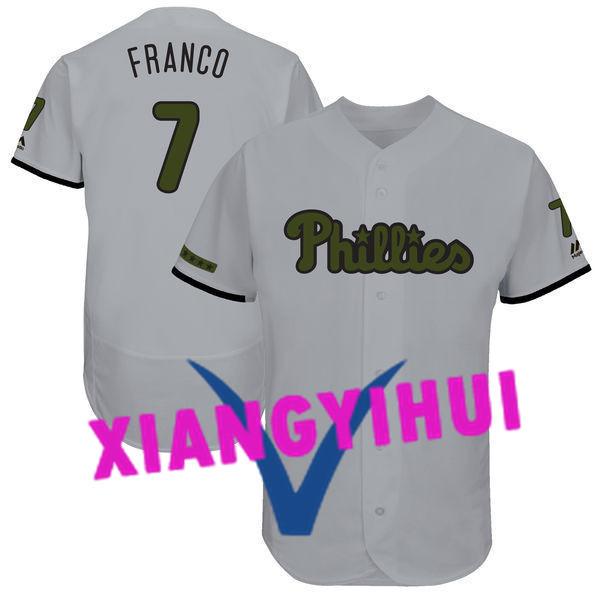 Free shipping 2017 High Quality New Style Baseball Jerseys Molina #4 Franco #7 Stanton #27(China (Mainland))