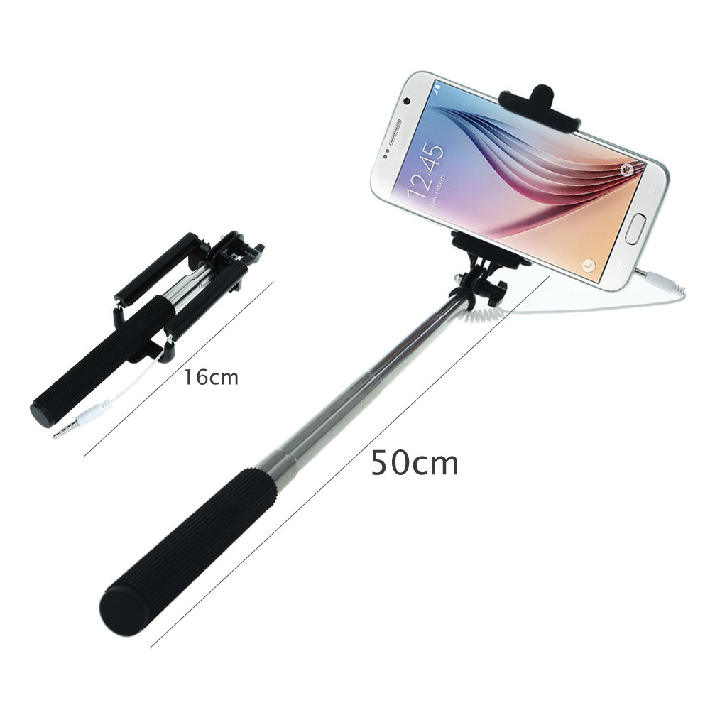 image for Hot Portable Handheld Wired Extendable Built-in Shutter Remote Self-Po