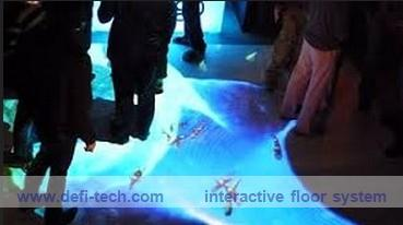 DEFI copyright Interactive floor Projection system for wedding, advertising, kids 130 different effects(China (Mainland))