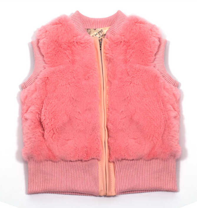 Children's wear winter 2015 new vest coat thickening qiu dong girls rabbit fur maomao Package mail real s - qmfur store