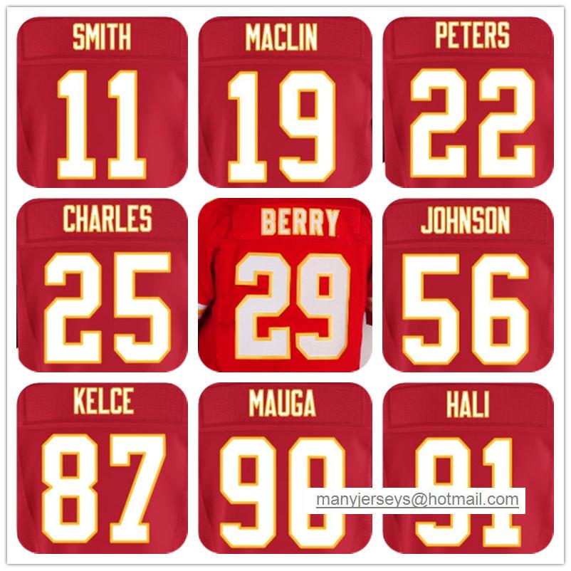 MENS #11 Alex Smith#19 Jeremy Maclin#22 Marcus Peters#29 Eric Berry#25 Jamaal Charles#56 Derrick Johnson# Jerseys(China (Mainland))