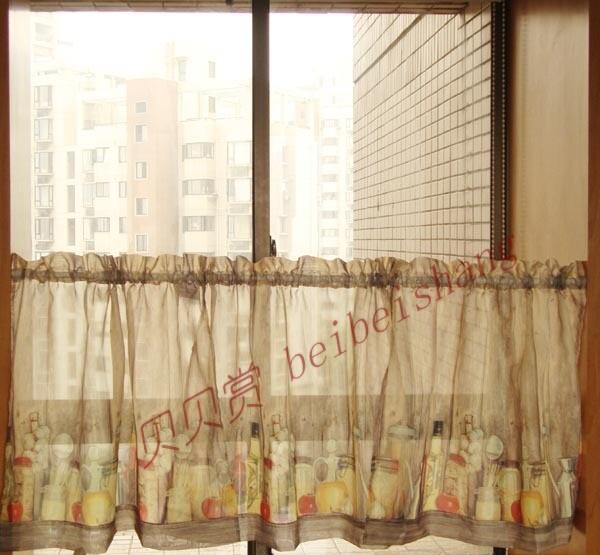 Shabby semi sombra cocina cortina cortina de caf para for Catalogo de cortinas para cocina