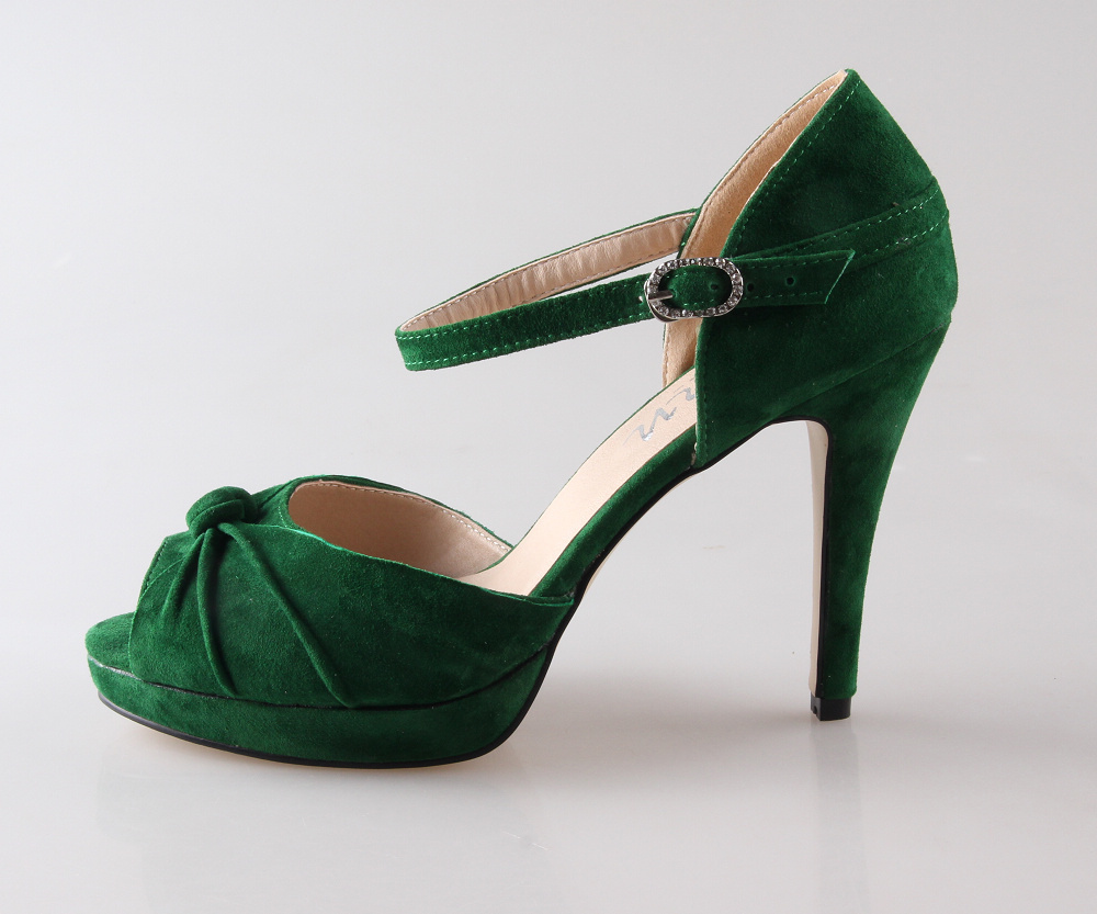 Green Heels With Ankle Strap