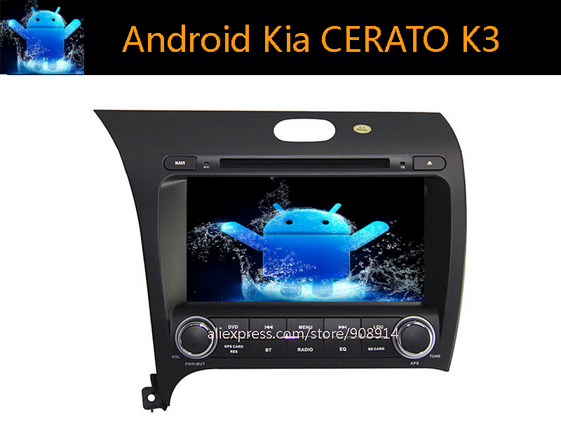 free shinpping Android 5.11 For Kia CERATO K3 Car Dvd Player with 3G Radio GPS WIFI(China (Mainland))