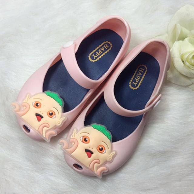 2016 мини мелиссы сандалии обувь для девочек сандалии кристалл желе мультфильм детей сандалии летняя обувь дышащая Zapatos 13 - 15 см