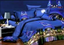 BEST.WENSD luxury jacquard bedclothes 3d Rose Wedding flat bed linen 100% microfibre bedding set duvet cover housse de couette(China)