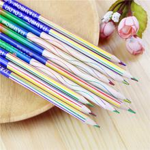 Buy 8 Pcs/lot DIY Cute Kawaii Wooden Colored Pencil Wood 4 1 Rainbow Color Pencil Kid School Graffiti Drawing Pain for $1.63 in AliExpress store