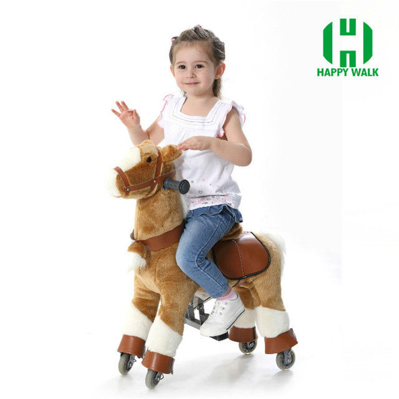 HI CE ride on the white horse,walking ride on horse,ride on horse