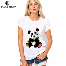 Buy CR 2017 NEW Women T shirt Ptint Panda Tops Plus Size XS~4XL Women Lovely Shirt Comfortable Shirts Soft Tops for $6.08 in AliExpress store